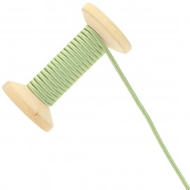 3 mm Cotton Braid Ribbon Roll - Lichen Green