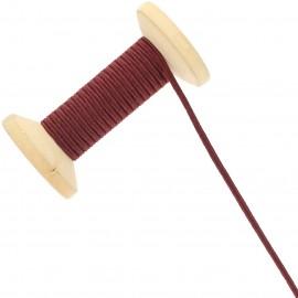 3 mm Cotton Braid Ribbon Roll - Burgundy