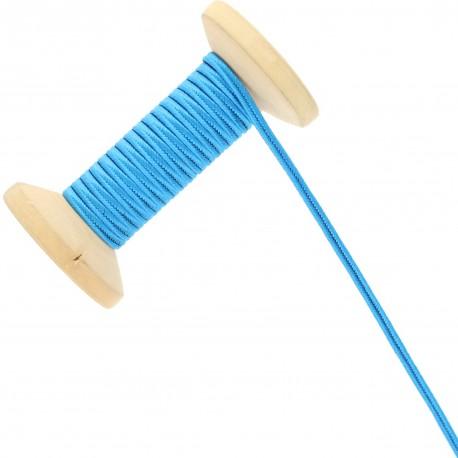3 mm Cotton Braid Ribbon Roll - Blue