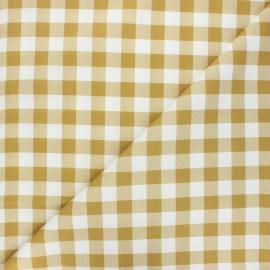 Tissu coton cretonne Vichy - ocre x 10cm
