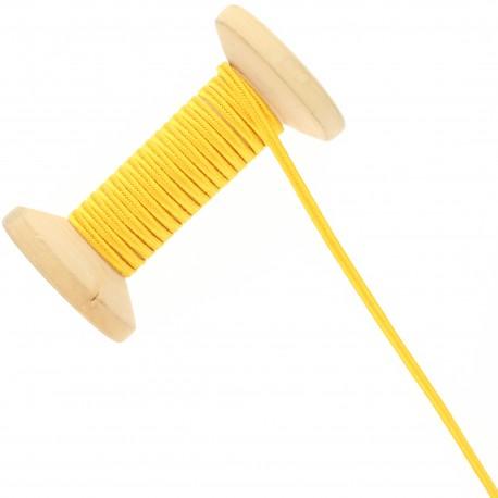 3 mm Cotton Braid Ribbon Roll - Yellow