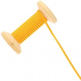 3 mm Cotton Braid Ribbon Roll - Mandarin