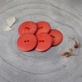 Palm Corozo Button - Tangerine Atelier Brunette