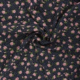 Tissu viscose Sylvaine - bleu nuit x 10cm