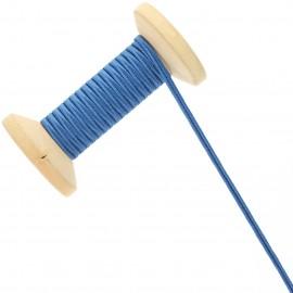 3 mm Cotton Braid Ribbon Roll - Bleu de France