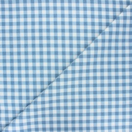 Cretonne cotton fabric - swell blue Mini vichy x 10 cm