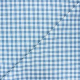 Tissu coton cretonne Mini vichy - bleu houle x 10cm