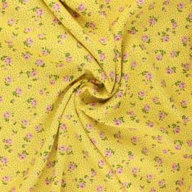 Tissu viscose Sylvaine - jaune x 10cm