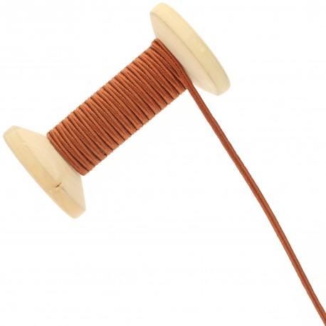 3 mm Cotton Braid Ribbon Roll - Rust Red