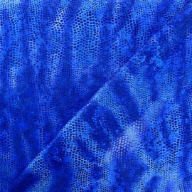 Iguane lycra fabric - royal blue x 10cm