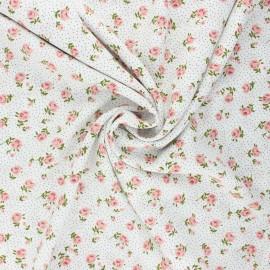 Tissu viscose Sylvaine - blanc cassé x 10cm