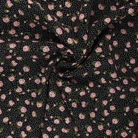 Tissu viscose Sylvaine - noir x 10cm