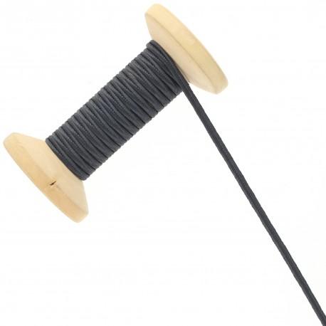 3 mm Cotton Braid Ribbon Roll - Anthracite