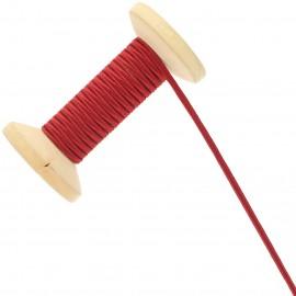 Soutache Tano 3 mm - rouge carmin - Bobine de 25 m