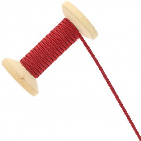 3 mm Cotton Braid Ribbon Roll - Carmine Red