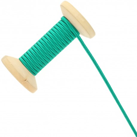 3 mm Cotton Braid Ribbon Roll - Emerald Green