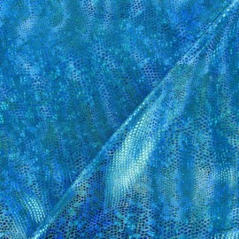 Lycra Iguane turquoise x 10cm