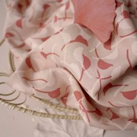 Viscose fabric Atelier Brunette -  Windy Maple x 10cm