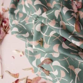 Viscose fabric Atelier Brunette -  Windy Cedar x 10cm