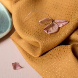 Viscose fabric Atelier Brunette - Dobby Ochre x 10cm