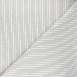 Chambray linen and viscose fabric - grege Quiberon x 10 cm
