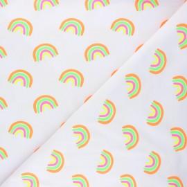 Tissu jersey Neon rainbow - gris clair x 10cm