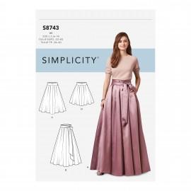 Patron Jupe évasée à plis Femme - Simplicity n°S8743