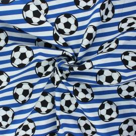 Tissu coton popeline Foot supporter - bleu marine x 10cm
