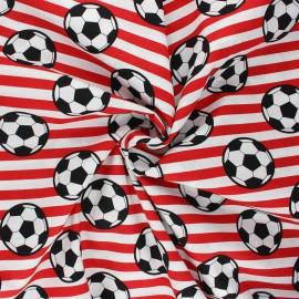 Tissu coton popeline Foot supporter - rouge x 10cm
