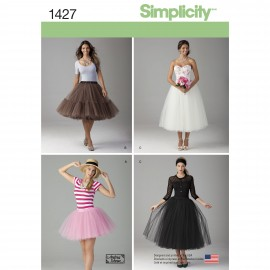 Tulle skirt sewing Pattern for Woman - Simplicity n°1427