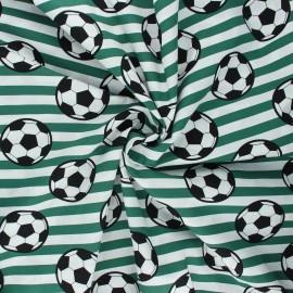 Tissu coton popeline Foot supporter - vert foncé x 10cm