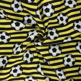Poplin cotton fabric - yellow Foot supporter x 10cm