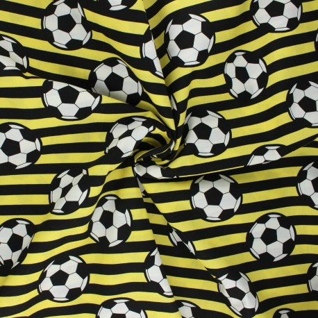 Tissu coton popeline Foot supporter - jaune x 10cm