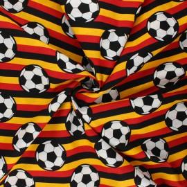 Tissu coton popeline Foot supporter - multicolore x 10cm