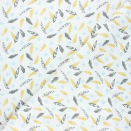 Cretonne cotton fabric - ochre Ductus x 10cm