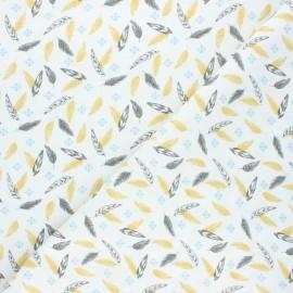 Tissu coton cretonne Ductus - ocre x 10cm