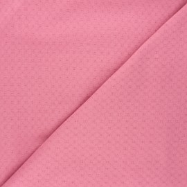 Embroidered cotton voile fabric - rosewood Adèle x 10cm