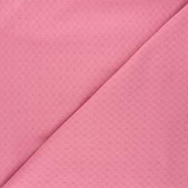 Tissu voile de coton brodé Adèle - bois de rose x 10cm