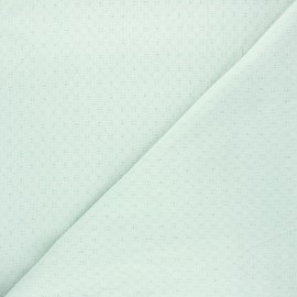 Embroidered cotton voile fabric - opalin Adèle x 10cm