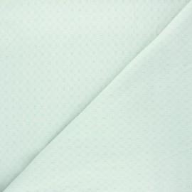 Tissu voile de coton brodé Adèle - opaline x 10cm