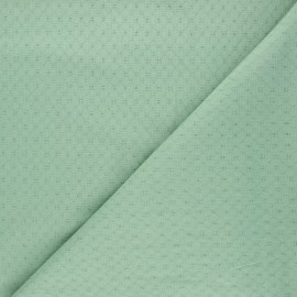 Embroidered cotton voile fabric - eucalyptus Adèle x 10cm