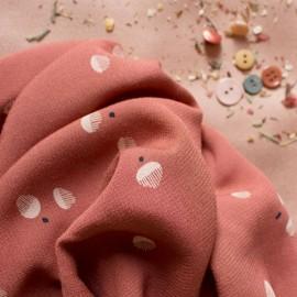 Viscose fabric Atelier Brunette -  Seed Chestnut x 10cm