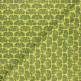 Tissu coton cretonne Aveiro - vert x 10cm
