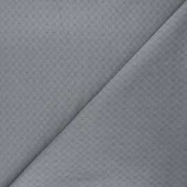 Embroidered cotton voile fabric - mouse grey Adèle x 10cm