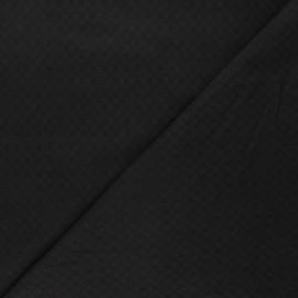 Embroidered cotton voile fabric - black Adèle x 10cm