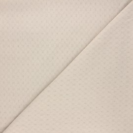 Embroidered cotton voile fabric - sand Adèle x 10cm