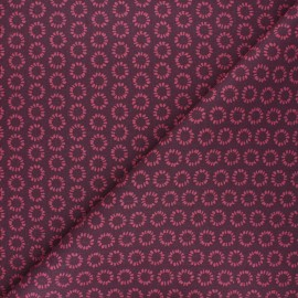 Tissu coton cretonne Minae - aubergine x 10cm