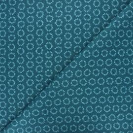 Cretonne cotton fabric - petrol blue Minae x 10cm