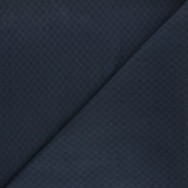 Embroidered cotton voile fabric - night blue Adèle x 10cm