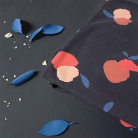Atelier Brunette sweatshirt fabric - Néroli Night x 10cm